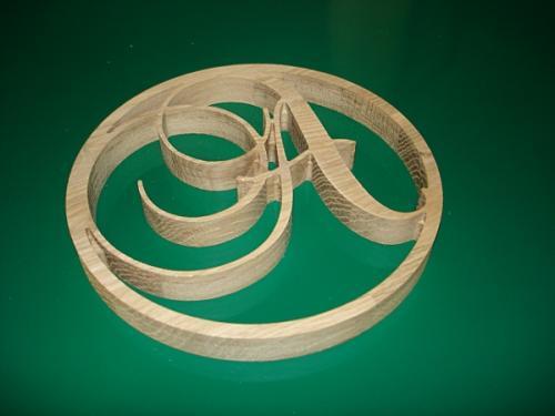 D coupes num riques usinage sur bois lettre dessous de plat r alisation de travaux de - Dessous de plat bois ...